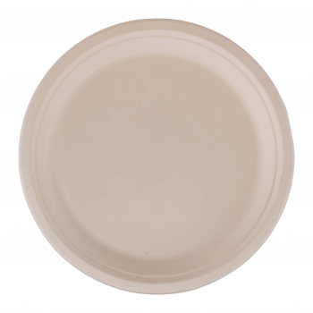 Teller aus Bagasse, weiss, 30 cm, Pack à 50 Stück