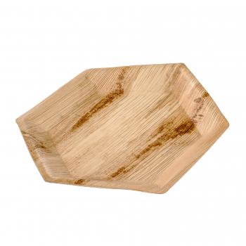 Palmblatt-Teller, sechseckig, 24 cm, Pack à 25 Stück