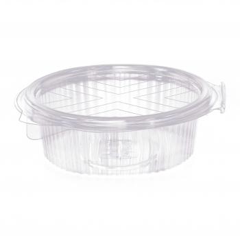 Salatschale glasklar aus OPS, oval mit Klappdeckel, 16.5 x 13 x 4.5 cm, Pack à 50 Stück