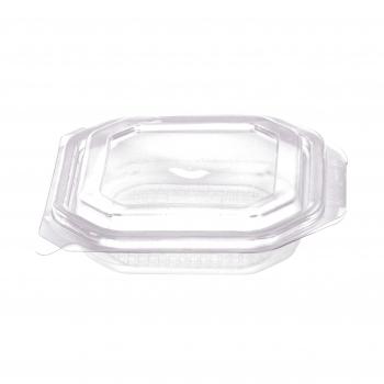 Octobox transparent aus PP mit Klappdeckel, mikrowellentauglich, 13.5 x 13.5 x 3 cm, Pack à 50 Stück