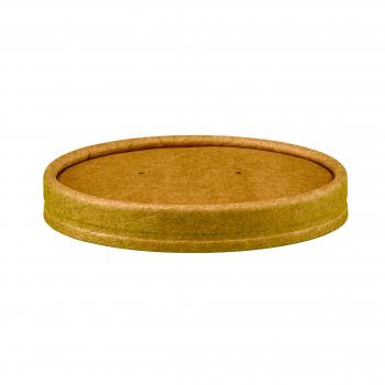 Deckel aus Karton, braun, 450 ml, Pack à 25 Stück, passend zu Artikel 11112