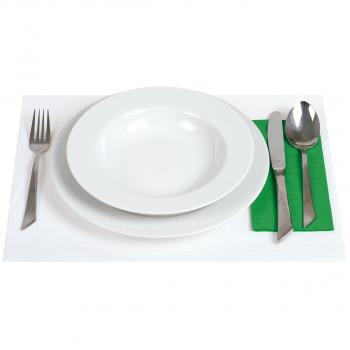 Tischsets mit Shetlandprägung weiss, 1-lagig, 30 x 40 cm, 60 g/m², Karton à 1'000 Stück