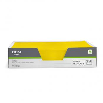DENI meet Tischset Airlaid, gelb, 30x40cm, Pack zu 250 Stück