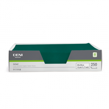 DENI meet Tischset Airlaid, tannengrün, 30x40cm, Pack zu 250 Stück