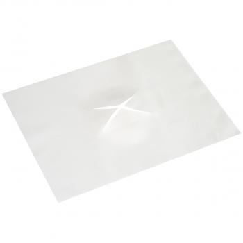 Einweg-Gesichtsauflage für Massage-/Praxisliegen mit Nasenschlitz  aus Airlaid, weiss, 30 x 40 cm, Karton à 500 Stück