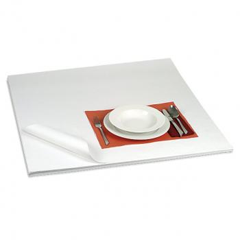 Tischdeckpapier weiss, 1-lagig, 80 x 80 cm, 60 g/m², Karton à 500 Blatt