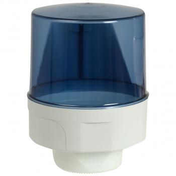 Dispenser für Reinigungsrolle Midi, weiss/blau-transparent, 26 x 35 cm