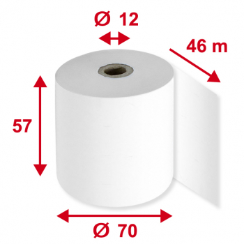Kassenrollen/Additionsrollen 57 mm x 46 m, Pack à 5 Stück