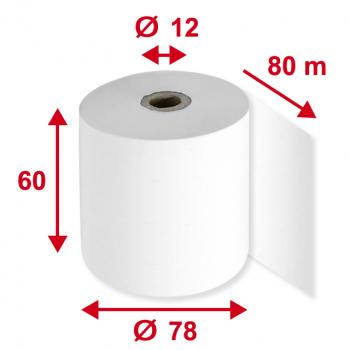 Thermorollen 60 mm x 80 m, Pack à 5 Stück