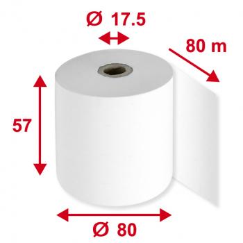 Thermorollen 57 mm x 80 m, Pack à 5 Stück