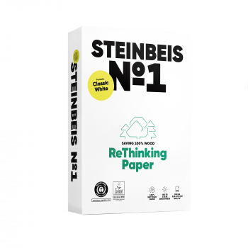 Steinbeis Recyclingpapier No. 1 in A4, 80 g/m², Pack à 500 Blatt