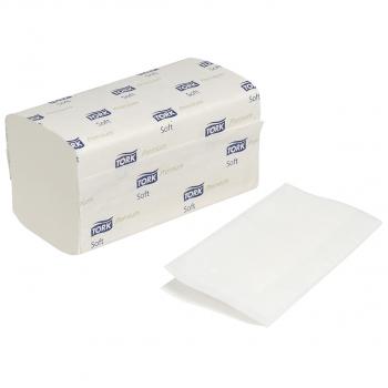 Tork Papierhandtücher 2-lagig, hochweiss, V-Falzung, Karton à 3'000 Stück