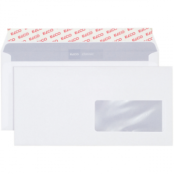 ELCO Briefumschläge Classic C5/6 229 x 114 mm, weiss, Fenster rechts, Pack à 500 Stück