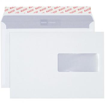 ELCO Briefumschläge Classic C5 229 x 162 mm, weiss , Fenster rechts, Pack à 500 Stück