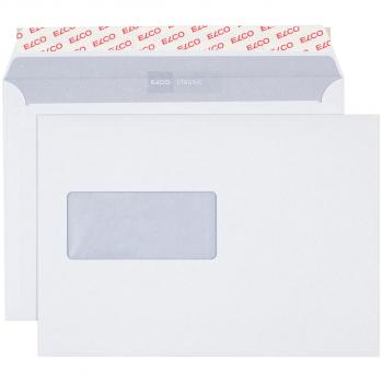 ELCO Briefumschläge Classic C5 229 x 162 mm, weiss , Fenster links, Pack à 500 Stück