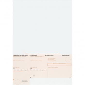 Einzahlungsscheine BESR orange, geboxt, 90 g/m² auf A4, Karton à 1'000 Stück