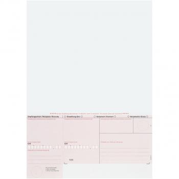 Blatt Einzahlungsscheine ES rot, geboxt, 90 g/m² auf A4, Karton à 1'000 Stück