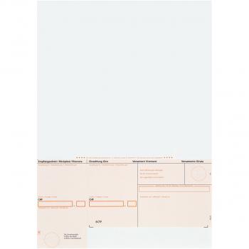 Einzahlungsscheine ESR orange, gerahmt, 90 g/m² auf A4, Karton à 1'000 Stück