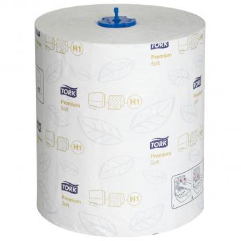 Tork Papierhandtuchrolle 2-lagig, weiss, 21 cm x 100 m, Pack à 6 Rollen