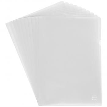 Biella Sichthüllen Everyday, genarbt, oben & seitlich offen, transparent, Pack à 100 Stück