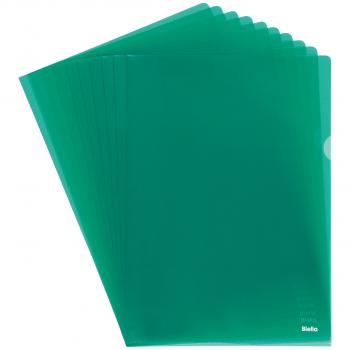 Biella Sichthüllen Everyday genarbt, oben & seitlich offen, grün, Pack à 100 Stück