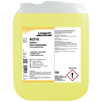 Geschirrspülmittel Citro 4clean KO10, Kanister mit 10 Liter