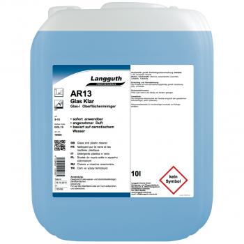 Glas- & Scheibenreiniger AR13, Kanister mit 10 Liter