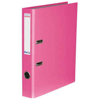 Biella Bundesordner mit 4 cm Rückenbreite, rosa