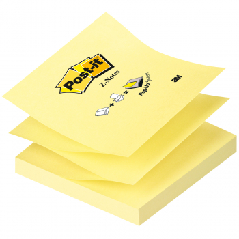 Post-it Z-Notes gelb 76 mm x 76 mm mit 100 Blatt