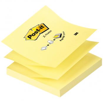 Post-it Z-Notes, jaune, 76 mm x 76 mm, 100 feuilles