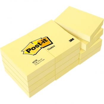 Post-it Haftnotizen gelb 38 mm x 51 mm, Pack à 3 x 100 Blatt