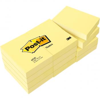 Post-it Papillons adhésifs, jaune, 38 mm x 51 mm, paquet de 3 x 100 feuilles