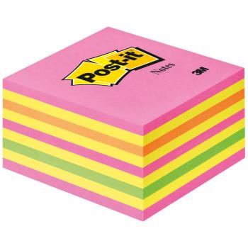 Post-it Haftnotizwürfel neon-pink 76 x 76 mm mit 450 Blatt