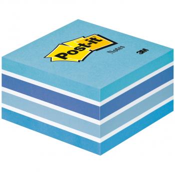Post-it Haftnotizwürfel Blautöne 76 x 76 mm mit 450 Blatt
