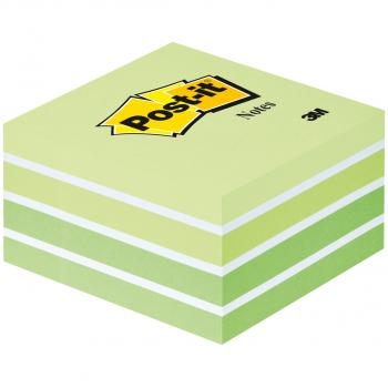 Post-it Haftnotizwürfel Grüntöne 76 x 76 mm mit 450 Blatt