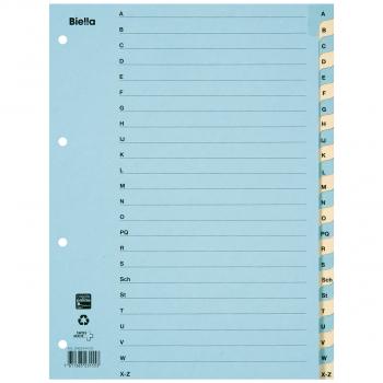 Biella Kartonregister A - Z, 24-teilig, blau