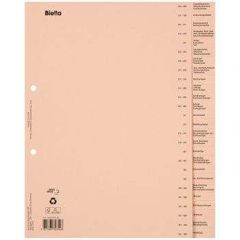 Biella Bauabrechnungsregister deutsch, 26-teilig, braun