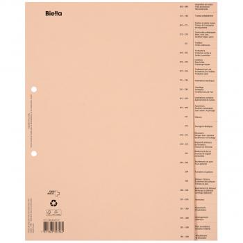 Biella Bauabrechnungsregister französisch, 26-teilig, braun
