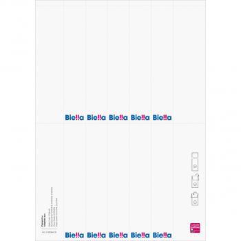 Biella Rückenschilder 4 cm, Pack à 100 Stück