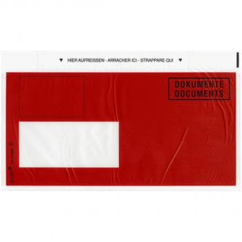Postkonforme Dokumententaschen C5/6 235 x 120 mm, Fenster links, Pack à 250 Stück