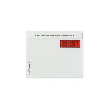 Dokumententaschen C6, 165 x 120 mm mit Aufdruck Dokumente/Documents, Pack à 250 Stück