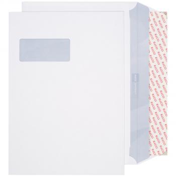 ELCO Briefumschläge Premium C4 324 x 229 mm, hochweiss, Fenster links, Pack à 250 Stück