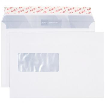 ELCO Briefumschläge Premium C5 229 x 162 mm, hochweiss, Fenster links, Pack à 500 Stück
