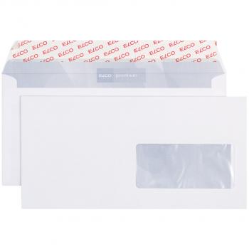 ELCO Briefumschläge Premium C5/6 229 x 114 mm, hochweiss, Fenster rechts, Pack à 500 Stück