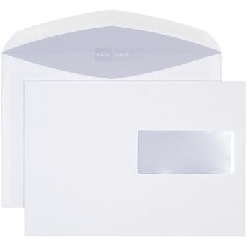 ELCO Briefumschläge Classic C5 229 x 162 mm, weiss , Fenster rechts, gummiert, Pack à 500 Stück