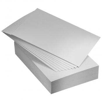 Einlagekarton A4 für Briefumschläge C4, grau, Pack à 100 Stück