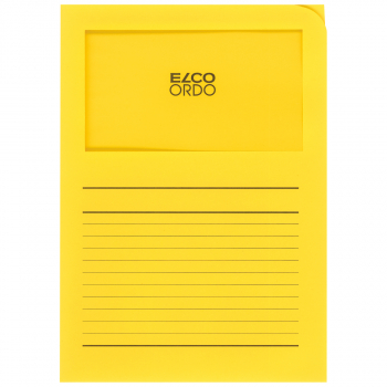 ELCO Ordo Classico mit Linien, intensivgelb, Pack à 100 Stück