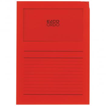 ELCO Ordo Classico mit Linien, intensivrot, Pack à 100 Stück