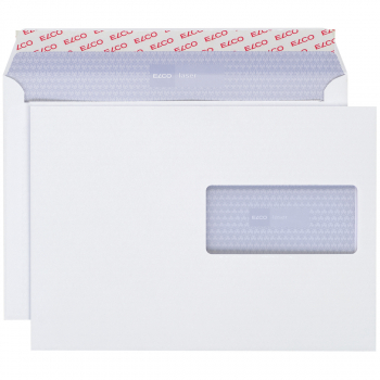 ELCO Briefumschläge Laser C5 229 x 162 mm, weiss , Fenster rechts, Pack à 500 Stück