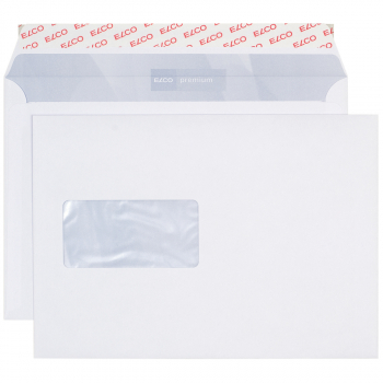 ELCO Briefumschläge Office C5 229 x 162 mm, weiss , Fenster links, Pack à 100 Stück